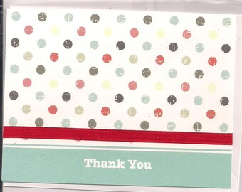 Polka Dotted Little Thank You Card
