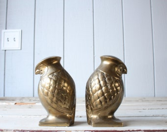 Brass Owl Bookends // Solid Brass