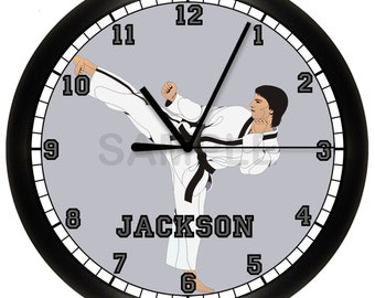 Personalized Martial Arts Karate Wall Clock