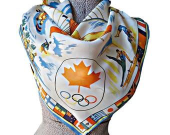 Scarf 1976 Canada Olympic Scarf Vintage
