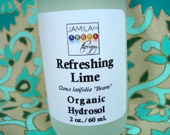 Hydrosol - Refreshing Organic Lime Hydrosol - Astringent, Cooling/Cleansing Lime - Oily Skin, Uplifting 100% Organic Hydrosol, Invigorating