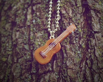 Miniature Ukulele • Necklace/Keychain/Phone Charm/Earrings