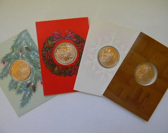 Franklin Mint Holiday Medallions, Coins, Cards