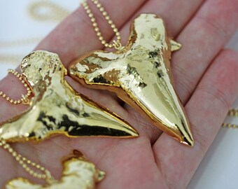 JAWS necklace - gold mako