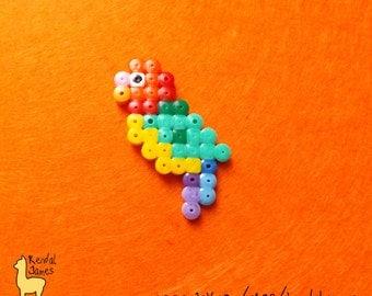 Baby parrot hama bead pixel accessory - GIFT