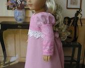 CLEARANCE SALE - American Girl doll Caroline Regency  mauve dress and pantalettes
