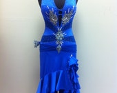 One of my  Dance Dresses  in The Magazing    Blue Dance Latin  Dress
