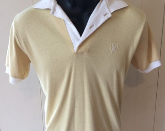 Vintage 70s (maybe 60s) Cotton Playboy Polo Shirt - Marked Medium, fits much smaller