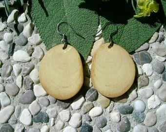 Wooden EARRINGS - From MAPLE Tree Branch Handmade Wooden Earrings