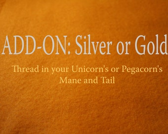 Silver or Gold in Your Pegacorn's Mane and Tail, Add-On for Build-A-Pegacorn Build-A-Unicorn, The Roaming Peddlers, Accessory, Magical Touch