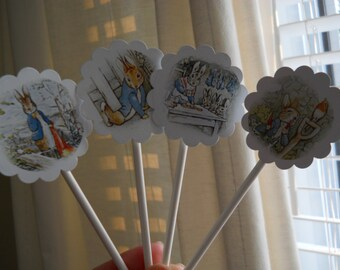 Peter Rabbit Cupcake Toppers Peter Rabbit decoration Peter Rabbit invitation Peter Rabbit shower Peter Rabbit buntin Peter Rabbit theme