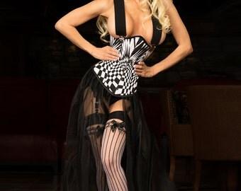 Op-art Corset Costume
