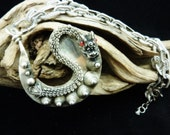 Tribal Vintage Dragon made of White Copper