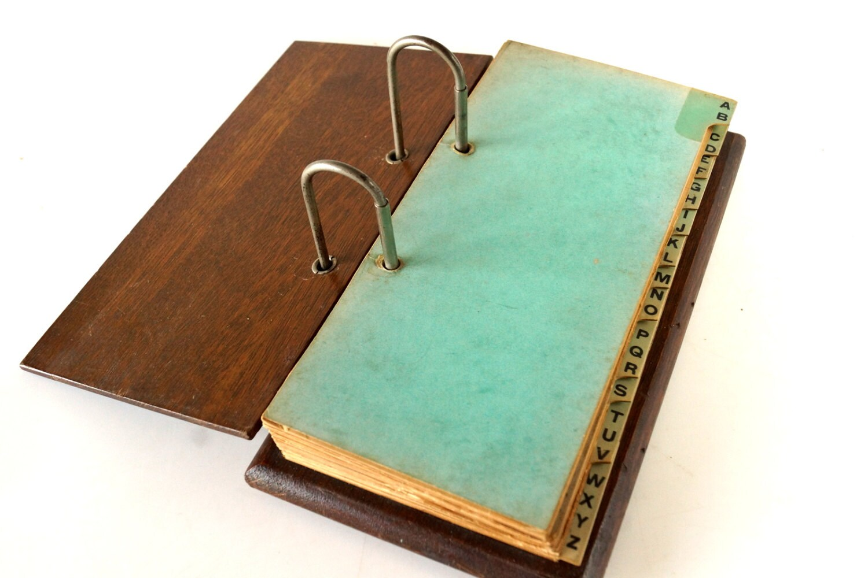 Ledger Card Holder : Vintage weis wood ledger holder with blank sheets and