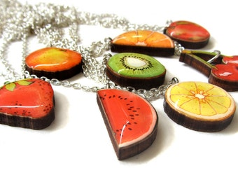 SALE Handmade Juicy Fruit Charm necklace.  20% off with code VALENTINEBEAR16
