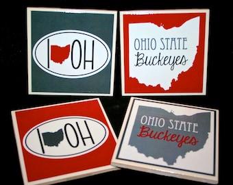 4 Ohio State Buckeyes Coasters