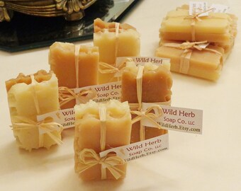 10 Natural HONEY Soap Sets (2 slice packs) Favors, Samples, Decorations - ADORABLE! Fun size rustic treat! Baby & Bridal Showers