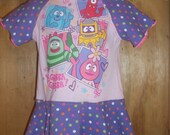 Upcycled Yo Gabba Gabba Dress/ Size 18/24 month/ RTS