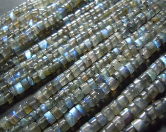 Labradoeite Labradorite  Smooth Beads  Size 5mm to 6mm approx 14'' - 10 Strands  AAA  Quality Genuine   Wholesale Price
