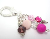 Hot Pink Beaded Purse Clip, Jewelry, Keychain clip, summer, spring, watermelon, planner charm