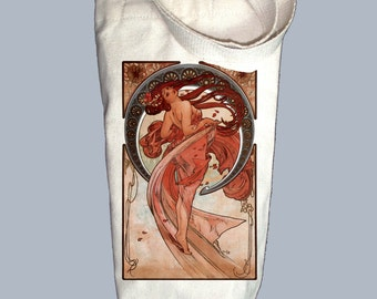 Dance Print by Alphonse Mucha Canvas Alcohol/Wine Gift Bag