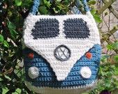 PDF Pattern for a Crocheted Splitty Campervan Shoulder Bag / Purse