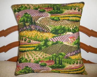 Charming Provence Tuscany Hills Pillow Cover (#1306)