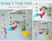 Baby Crib Mobile-Sea Animals Mobile-custom Made Mobile-Little Mermaid Mobile