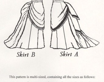 TV208 - Truly Victorian #208, 1870 Trained Skirt Ensemble Sewing Pattern