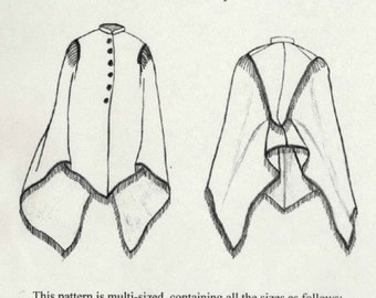 TV500 - Truly Victorian #500, 1870s-1880s Bustle Era Talma Wrap Sewing Pattern