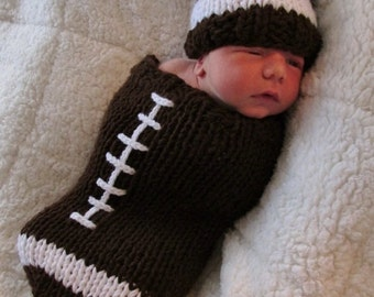 Football Cocoon and Hat PDF Pattern - #10