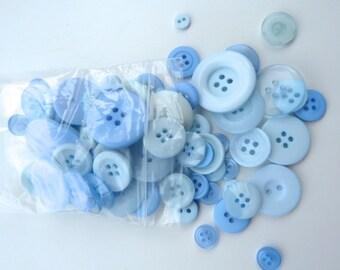 Light Blue 50g Button Bag