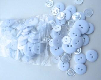 White 50g Button Bag