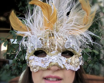 Gold and silver Masquerade Collectable Mask