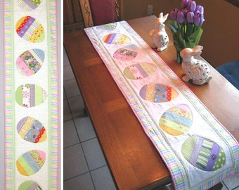Easter etsy happy hunting easter table runner pattern only negle Image collections