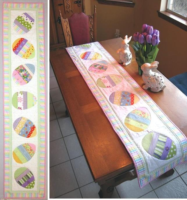 Happy Hunting Easter Table Runner