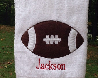 Football Hand towel Personalized You choose colors