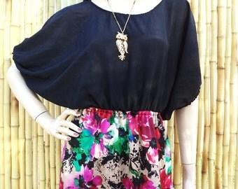 Vintage Gypsy BOHO Maxi Dress  Dress Sz Small- Medium