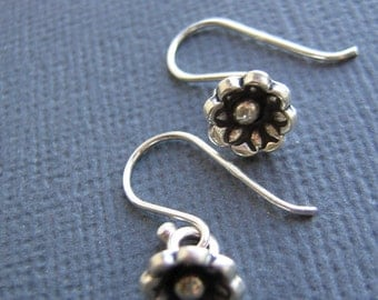 15% off any order Sterling Silver Flower Earrings