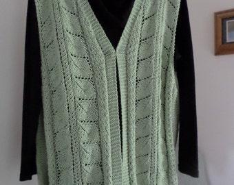 Knit Lacy Leaf Vest Pattern