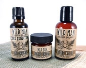 Wild Man Beard Gift Set - Three Piece - Beard Conditioner, Beard Wash and Beard Cream