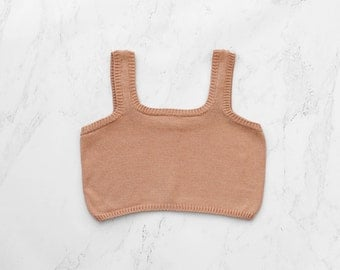Summer cropped top - hand knitting cotton st1