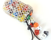 Chainmaille Dice Bag For Dungeons & Dragons Or Warhammer RPG Large Aluminum - TMDB-A03-R
