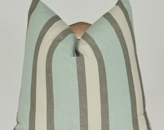 Pillow Cover, Decorative Pillow, Throw Pillow, Toss Pillow, Sofa Pillow, Kravet, Desi Stripe, Spearmint, 14x26 inch, Home Furnishing