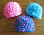 "set of THREE crochet doll hats fit 18"" dolls and American Girl Dolls Newsboy Hats Ready to Ship NN2"