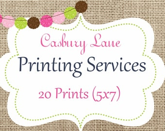 Casbury Lane Professional Printing Services-20 Double Sided Invitations with Envelopes