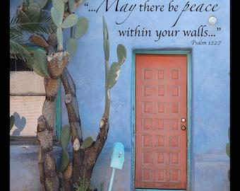 Blue Tucson Magnet - Arizona, Southwest, Inspirational, Photography, Architecture, Mailbox, Plaques, Gift
