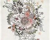 Mandala Art, Fine Art Print, Print of Original Abstract Painting, Modern Art, Bohemian Artwork