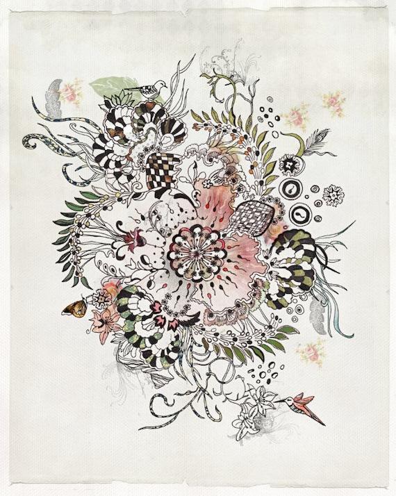 Mandala art fine art print print of original abstract
