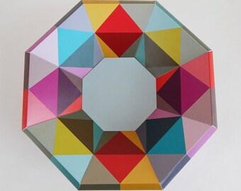 paper craft, paper bowl, printable, decoration
